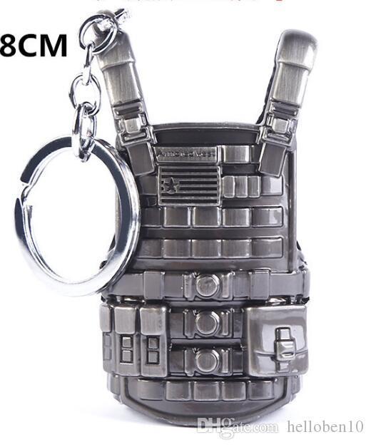 PLAYERUNKNOWNS BATTLEGROUNDS Keychain PUBG Key Ring Level 3 Vest Military Body Armor Model Metal Car Key Chain Pendant Jewelry