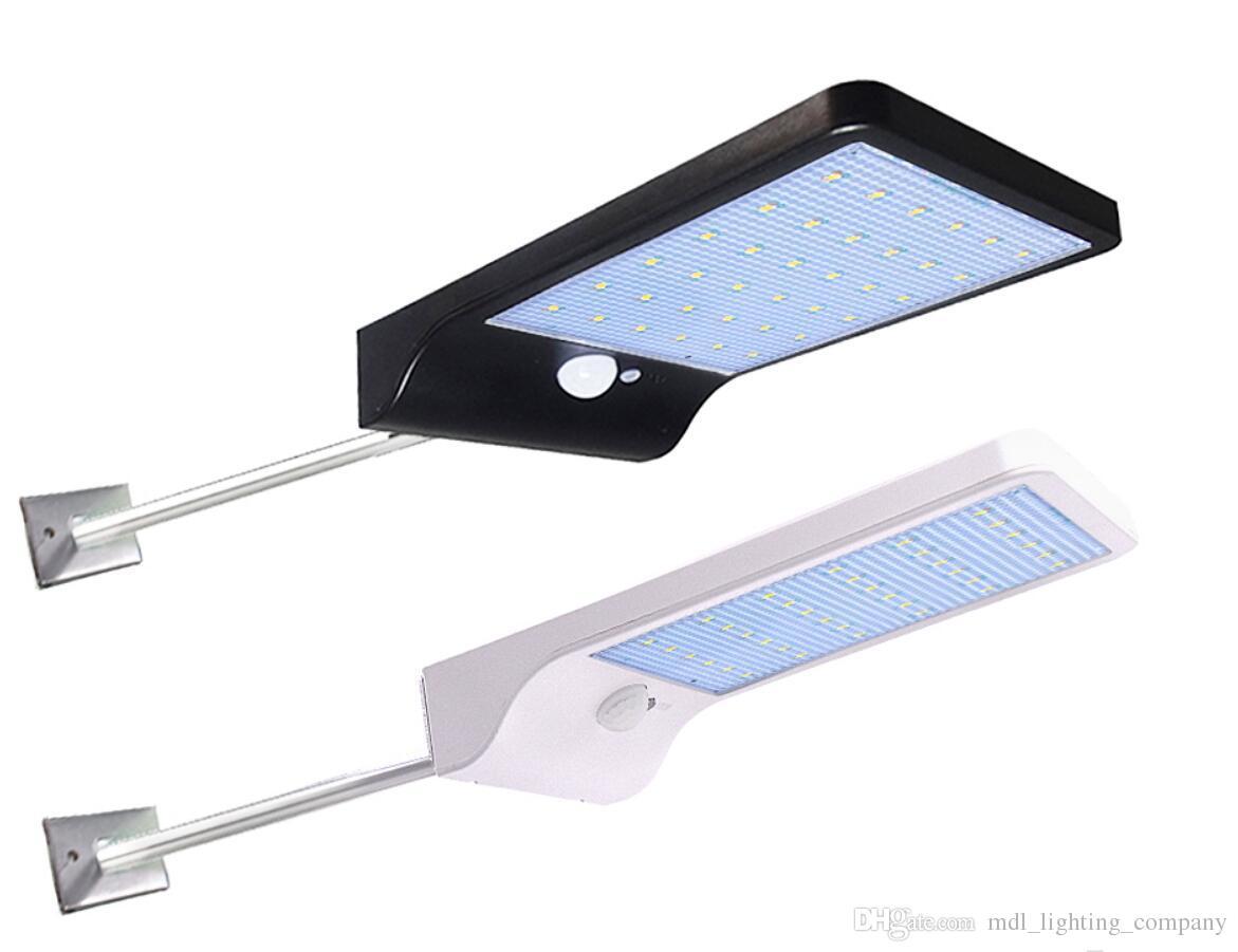 48 LED Solar Powered Light PIR Motion Sensor Street Garden Path Lamp Outdoor DE