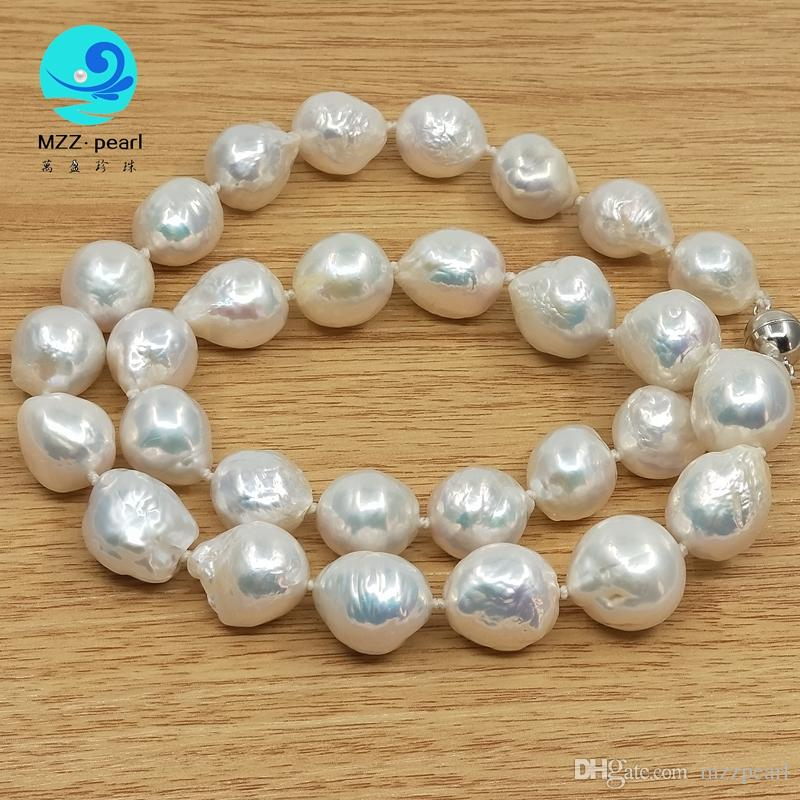 51ac217ce4f2b 2019 Strong Luster Large Size Edison Freshwater Cultured Pearl Necklace  Choker For Every Moment From Mzzpearl, &Price; | DHgate.Com
