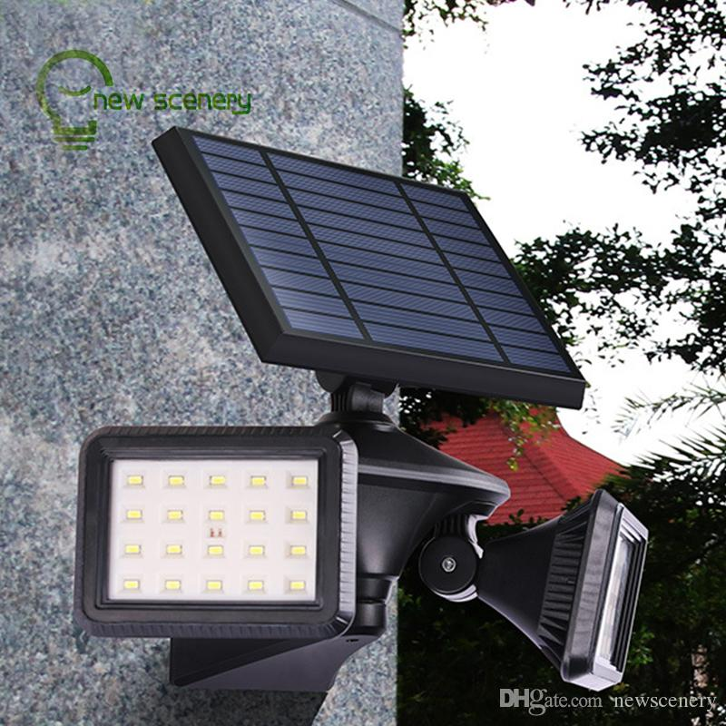 40leds solar powered led lights by PIR motion outdoor solar street led light for garden decorative