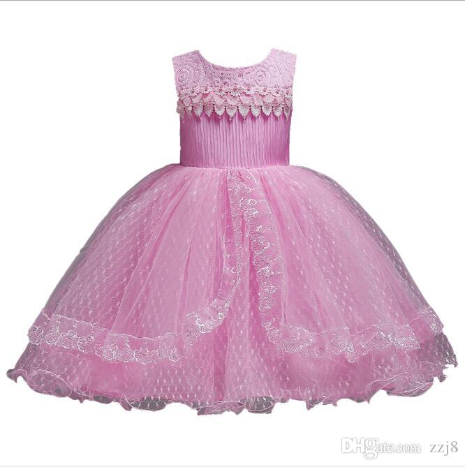 Puffy Flower Girl Dresses for Kids Girls Christmas Birthday Gift Beads Mesh Princess Show Dresses fit Age 1-14 Toddlers
