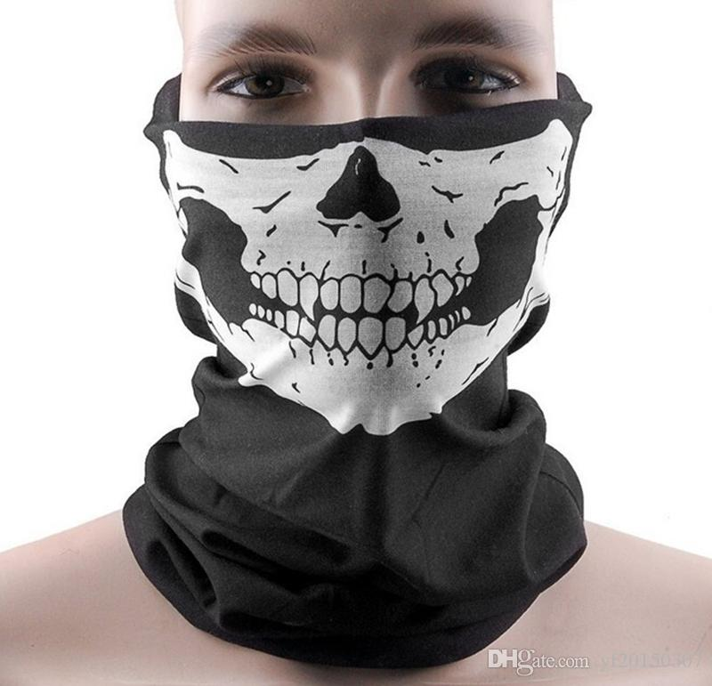 Skull Masks Halloween Scary Mask Festival Skeleton Outdoor Motorcycle Bicycle Multi Masks Scarf Half Face Mask Cap Neck