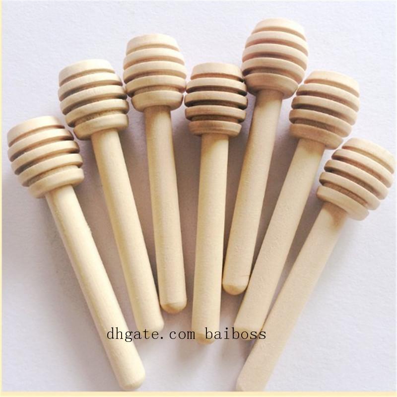 8 см/10 см/15 см/16 см длинные мини деревянные мед палку мед ковши партия питания ложка палку мед банку палку бесплатная доставка