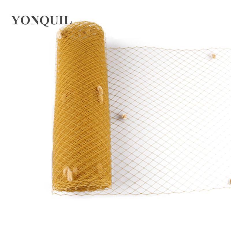 Gold or more colors mix dot birdcage veils 25CM Width DIY Hair accessories wedding veils hat adorn bridal netting hat party fascinator