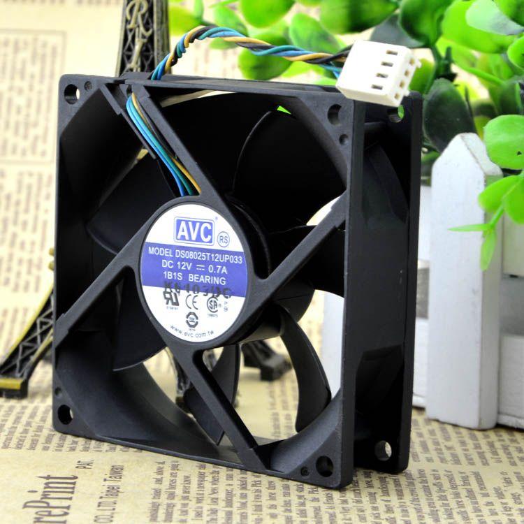 Pour AVC 8025 12V 0.7A 8cm violence 4 fils ventilateur de châssis d'ordinateur DS08025T12UP033