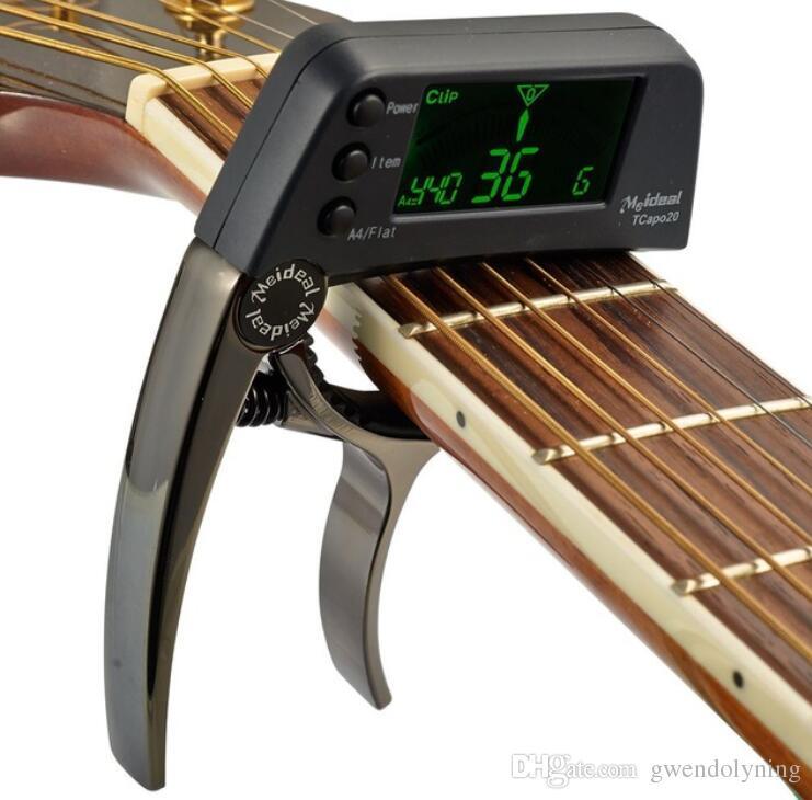 TCapo20 акустическая гитара Капо быстрая смена ключа гитара Капо тюнер для электрогитары частей бас укулеле хроматический сплав