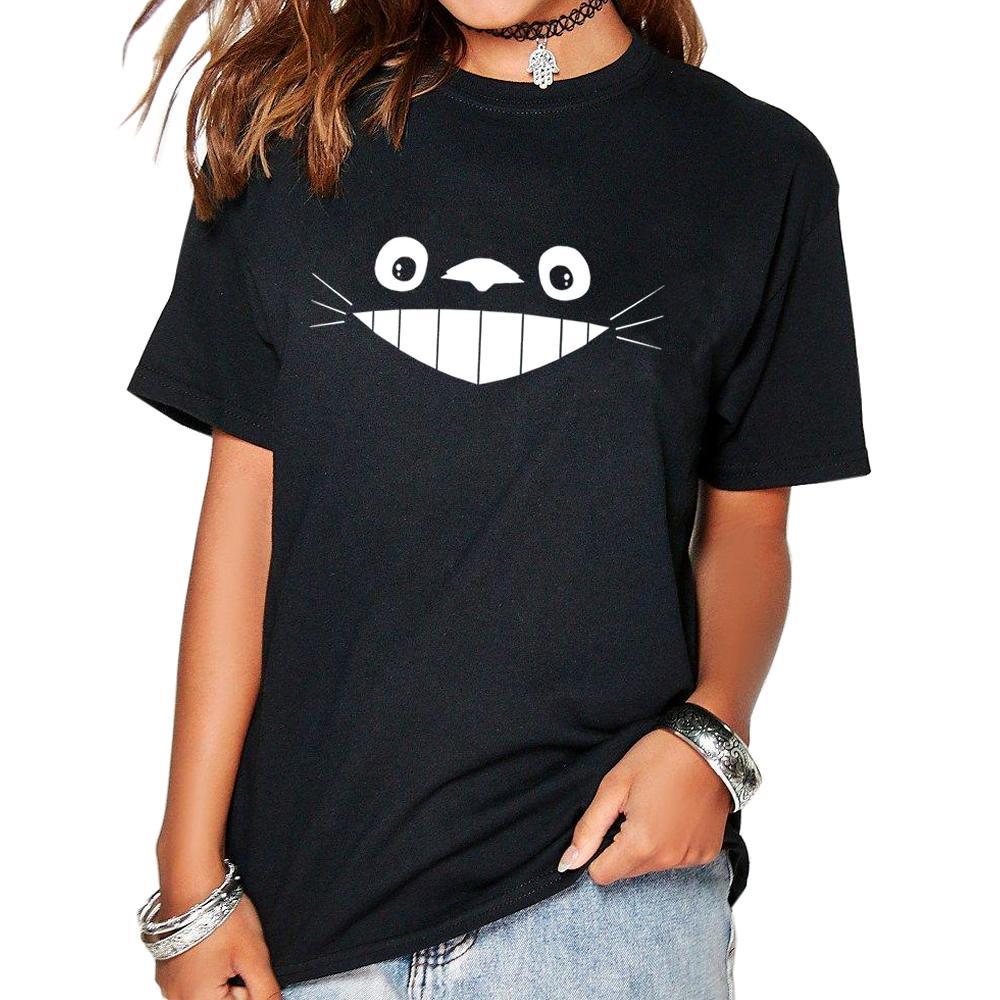 Unicornio Totoro 2019 Mode Harajuku T-Shirt Femmes Drôle Manches Courtes En Coton De Base Geek Jumelé Vogue Anime T-shirt Pour Les Femmes