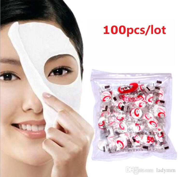 100Pcs/lot New Skin face Care DIY Facial Compressed Whitening Mask Paper Tablet Masque Mask Free Shipping via EMS