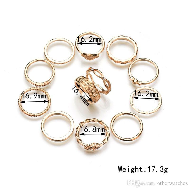Модное кольцо 12 комплектов колец