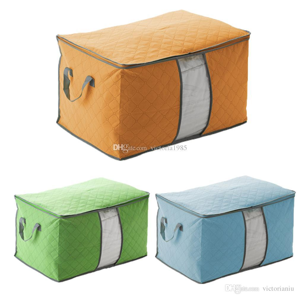 Portable Large Casual Travel Bag Non-woven Clothes Luggage Storage Bags Anti-dust Storage Boxes Clothes Quilt Laundry Pillows