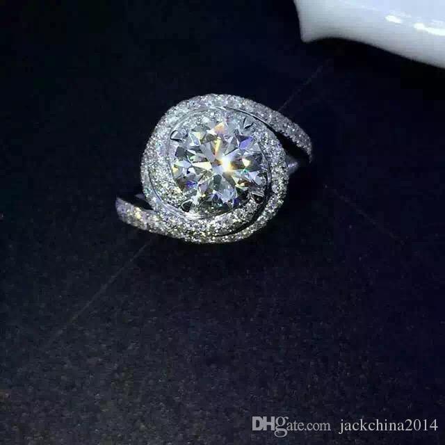 Jewellery & Watches Certified 5.39ct Round White Diamond Jumbo Engagement Ring in 14K White Gold Engagement Rings