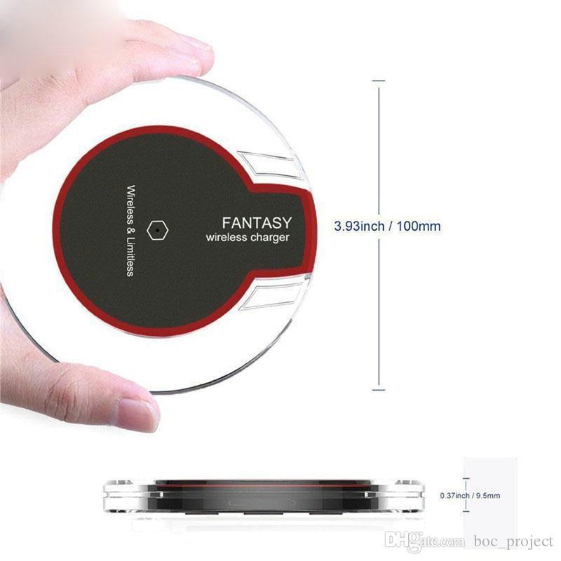 QI 무선 충전기 삼성 s7 가장자리 s8 플러스 아이폰 8 플러스 아이폰 X 소매 포장 200pcs