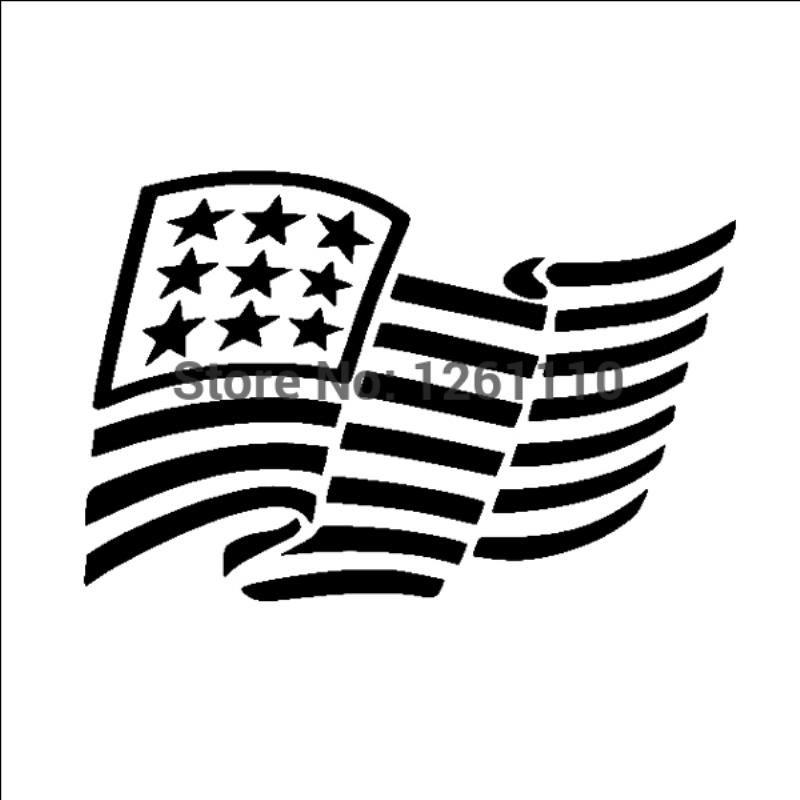 HotMeiNi Wholesale 20pcs/lot Family Reflective Vinyl Car Truck Window Bumper Sticker Decal Proud Parents Dad Us Flag American Flag