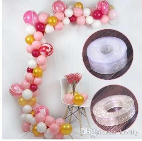 Фестиваль 5 м поставляет прозрачную резиновую цепь гелий воздушный шар украшения свадьбы ПВХ арка украшения воздушный шар цепи партии