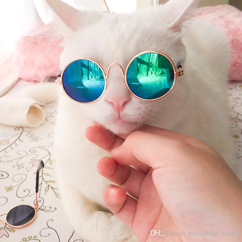 10 Peças Venda Quente Pet Óculos De Sol para o Gato Pequenos Cães Olhos Proteção Óculos de Sol Filhote de Cachorro Fotos Adereços Eyewear