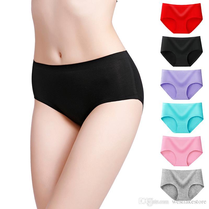 Nuevo producto Calzoncillos para mujer Modal Intimates Sin costuras Calzoncillos en la cintura Agrandar briefs
