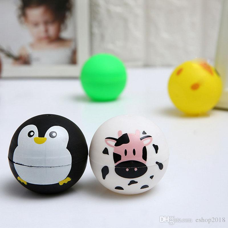 New Creative cartoon plastic capsule Twist Eggshell Cute Animal Printed Kids Toy Ball piggy bank gifts