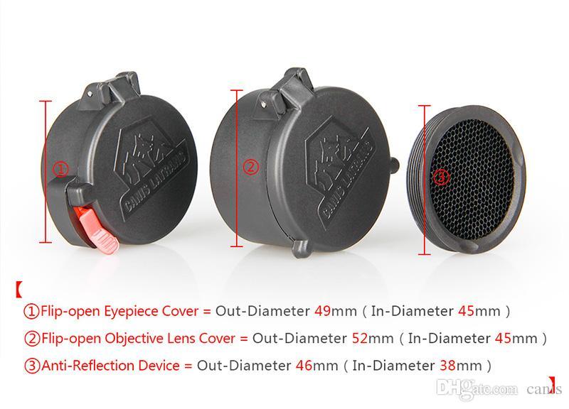 Nuovo arrivo Accessori Tactical Scope Cover con Kill Flash per Outdoor Sport Uso CL33-0087