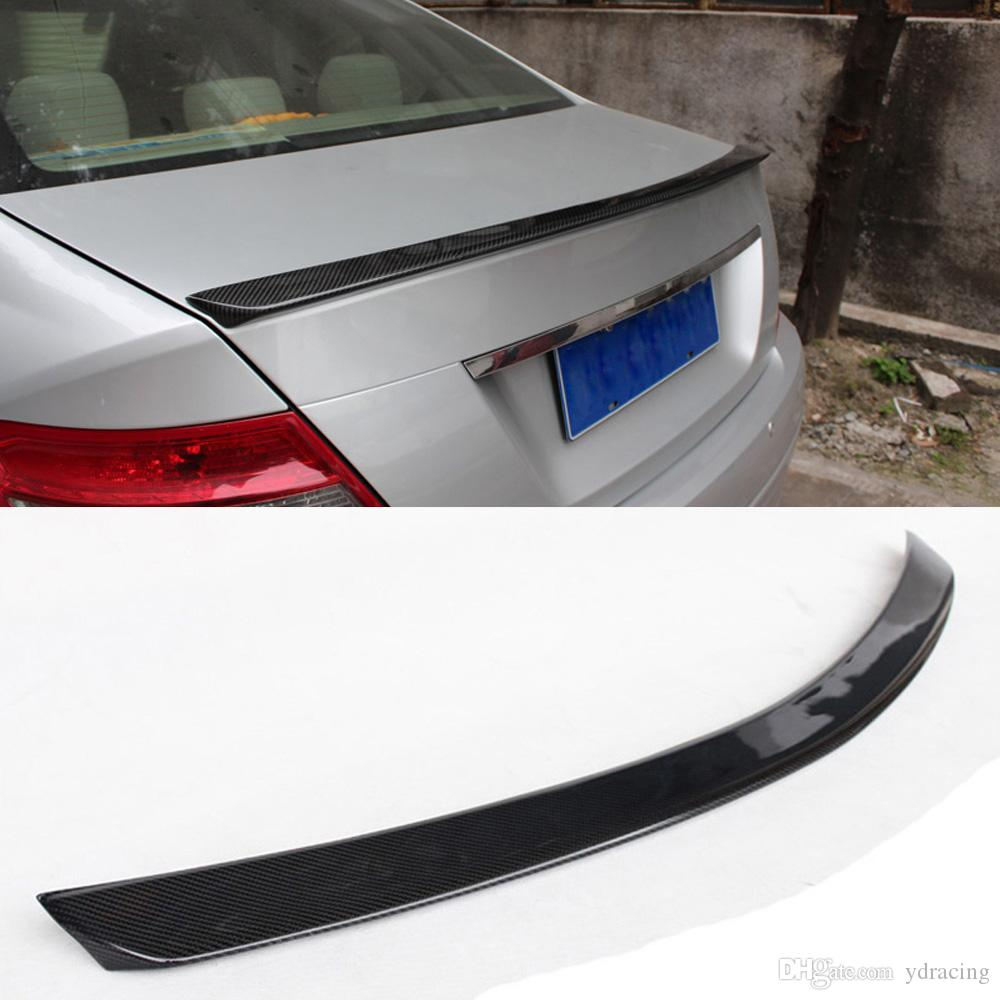 Car Styling Carbon Fiber Trunk Rear Spoiler Wing Lip for Mercedes-Benz C Class W204 C180 C200 C250 C300 C63 AMG Sedan 4-Door 2008-2013