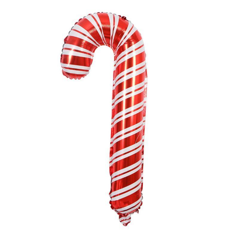 6 Unids / pack Globos de Caña de Caramelo de Navidad Vibrante Globos Grandes de Papel de Aluminio Decoración para la Celebración Navideña Fiesta en casa