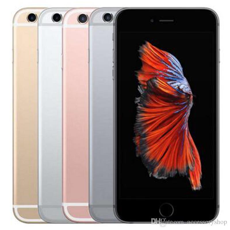 تم تجديده الأصل ابل اي فون 6S زائد 5.5 بوصة مع بصمات الأصابع IOS A9 2GB RAM 16/32 / 64 / 128GB ROM 12MP مقفلة الهاتف الخليوي 10pcs