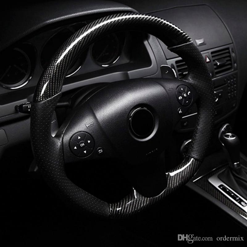Stylizacja samochodów 152 * 30 cm Wysoki połysk 5D Czarny Włókno węglowe Winylowe Folia Węgla Włókna Włókna Car Carble Foll Tools Naklejka Samochodowa Naklejka