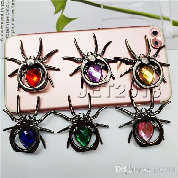 new Universal 360 Degree meatal spider Finger Ring Holder Phone Stand For iPhone 9 8 7 6s Samsung Mobile Phone