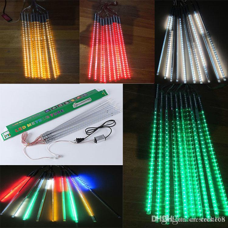 Christmas light Meteor lights LED outdoor christmas lights Ice tubes 80cm 10pcs tube LED fairy light strings colorful neon AC85-265V
