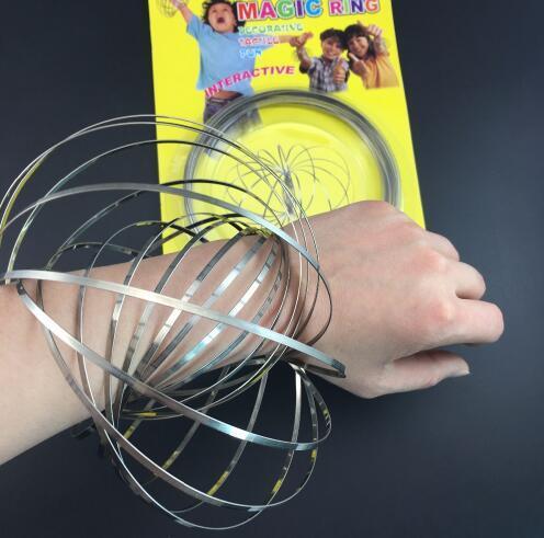Toroflux Flow Rings 3D الحركية الحسية التفاعلية بارد لعب للأطفال والكبار مضحك حلقة سحرية لعبة KKA4422