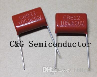 CBB21 Metallized Polypropylene Film Capacitor 1uF 105 630V J 10PCS