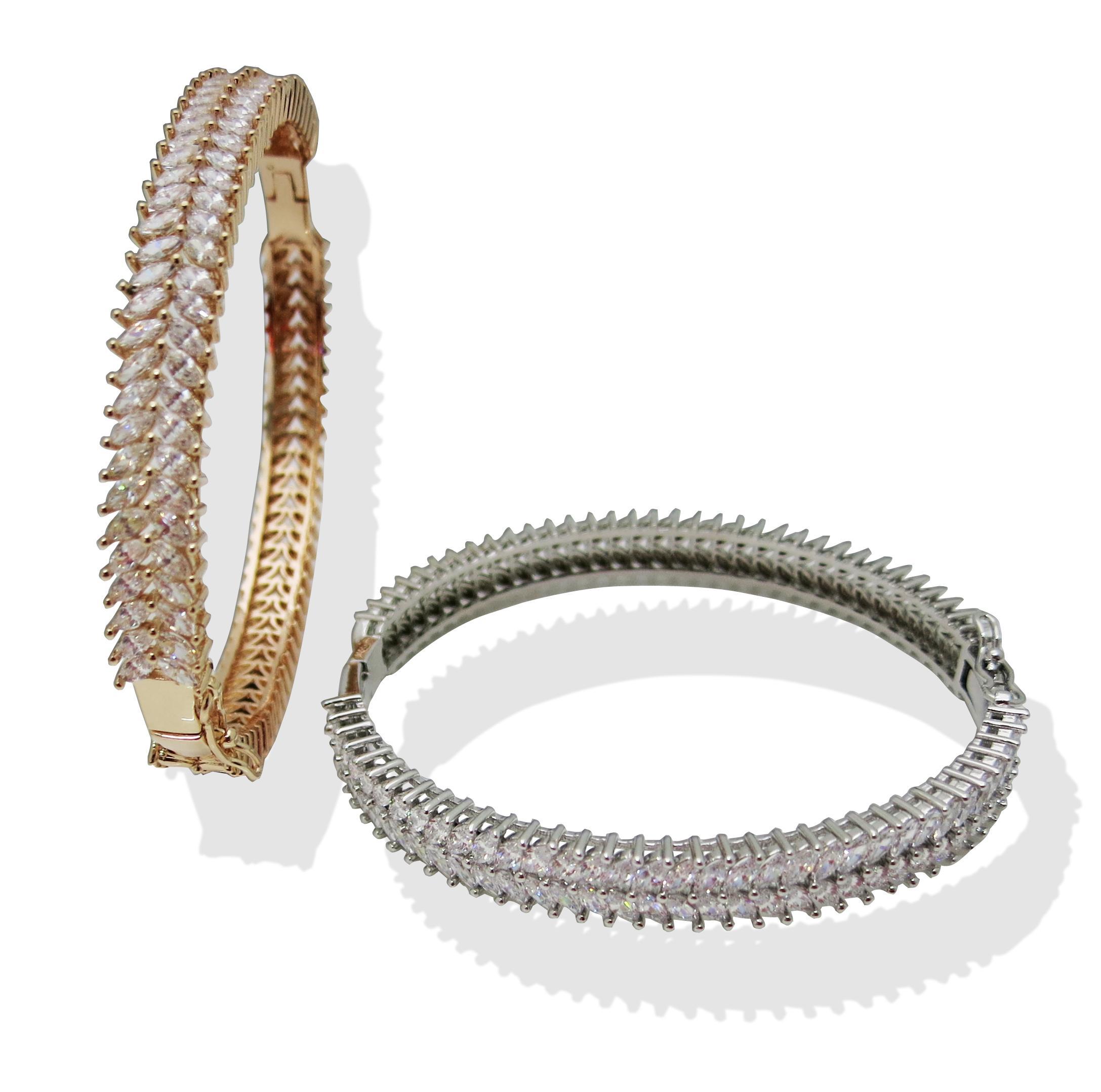 Gold Silver Bangles For Women Men Hand Fashion Jewelry Designer Luxury Love Bracelet Gemstone Bangle From Huierjewellrey 4 58 Dhgate Com