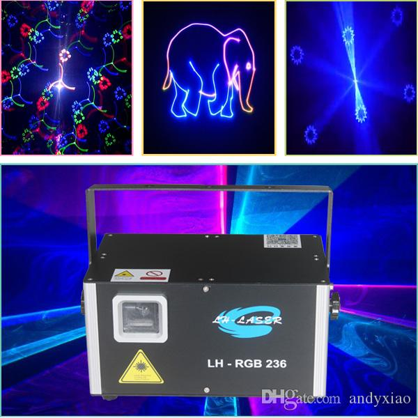 ILDA 1.5W Fireworks RGB laser stage lighting projector for outdoor christmas and entertainment
