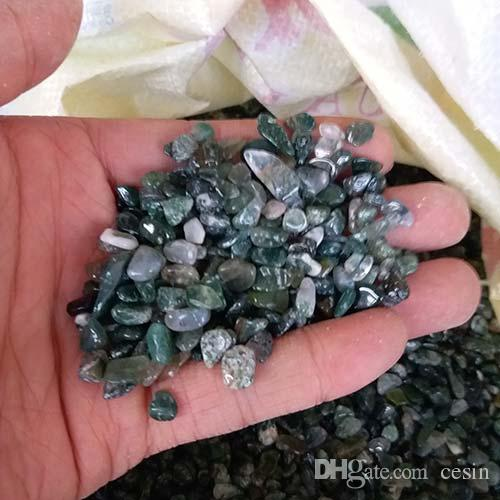 100g Green Agate Gravel crystal Quartz Malou Bonsai Tank Stone adorn detritus Healing Mineral massage Rough Reiki Rubble Energy beautify Raw