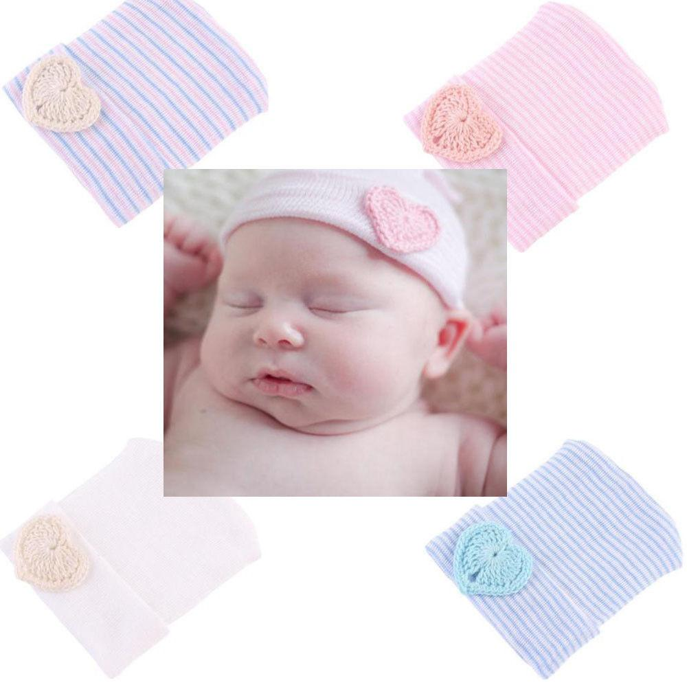 Baby Infant Girl Toddler Soft Comfy Bowknot Striped Cap Warm Beanie Hat