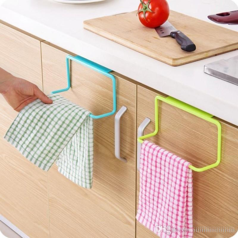 Hot Over Door Tea Towel Rack Bar Hanging Holder Rail Organizer Bathroom Kitchen Cabinet Cupboard Hanger Shelf
