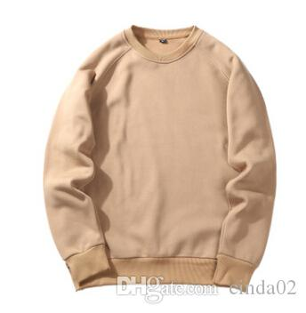 Die reine Farbe der Hoodies des Mannes O-Ansatz Langhülse Sweatshirt-Herbst-Winter-bequeme Abnutzung Hoodies