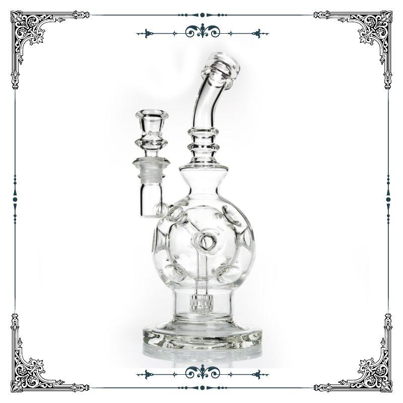 Eggosphere glass water bong recycler with matrix percolator bongs glass smoking water pipe glass bongs hookah free shipping