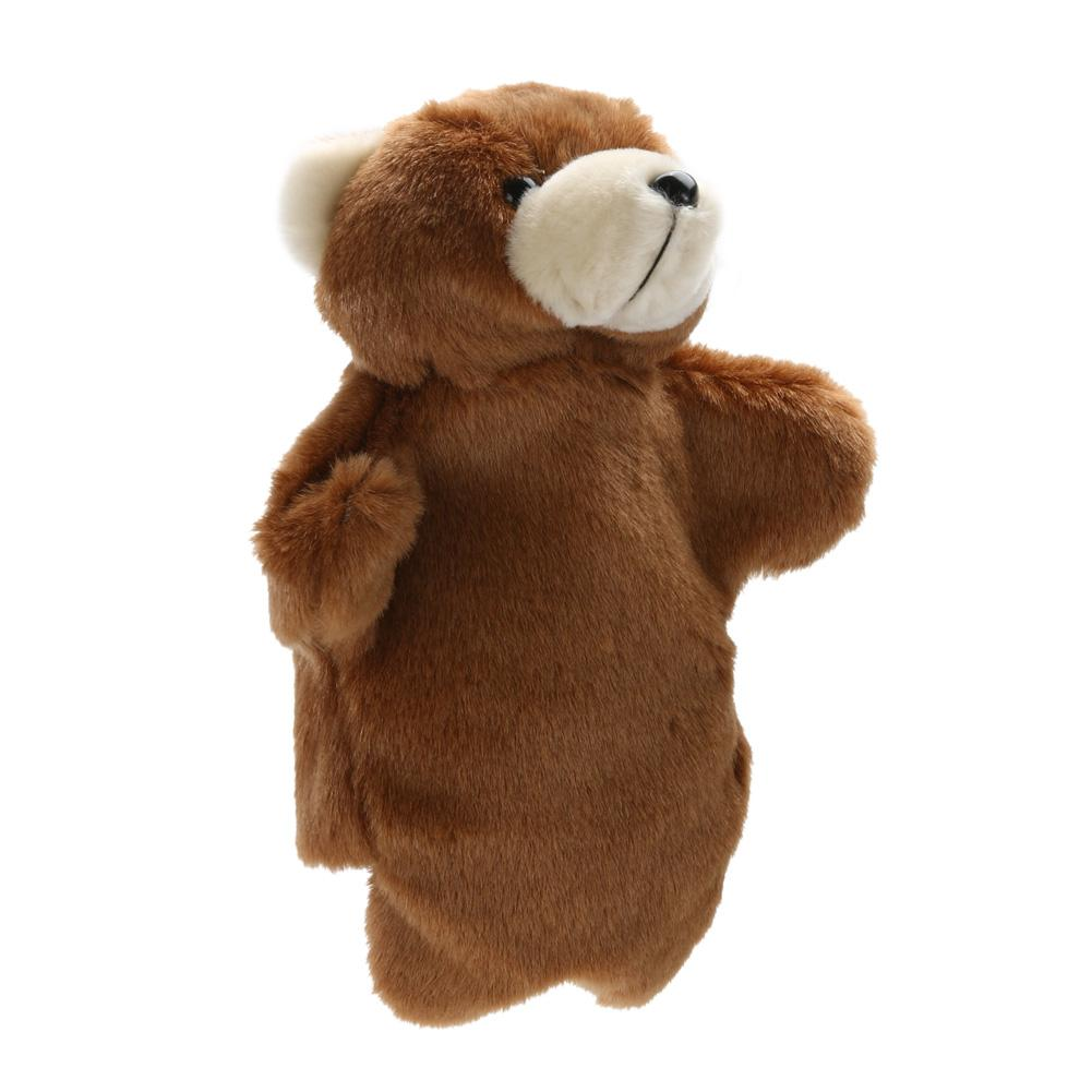 3 Colors Lovely Brown bear Hand Puppet Toys Baby Kids Developmental Educational Plush Doll Toy Funny Family Games