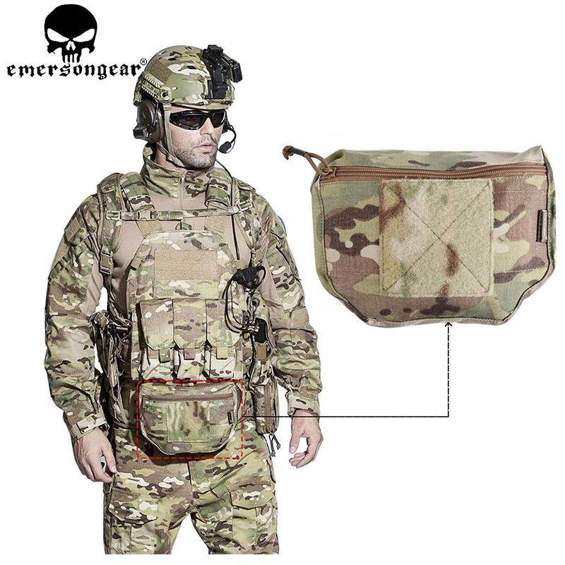 EMERSONGEAR Tactical Drop Pouch Fanny Pack Armor Carrier Dump Drop Pouch Airsoft Plate Carrier Bag Tool for AVS JPC Plate Carrier Vest