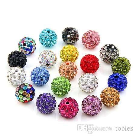 20 قطعة / الوحدة 10 ملليمتر shamballa كلاي كريستال ديسكو الكرة الخرز shamballa diy الخرز لصنع المجوهرات الأزياء والمجوهرات 20 الألوان