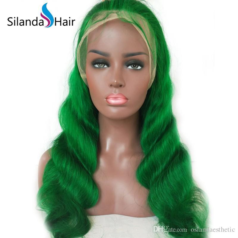 Pré Dyed Corps Green Wave Remy humaine perruques avant de dentelle de cheveux de dentelle perruques à vendre Livraison gratuite