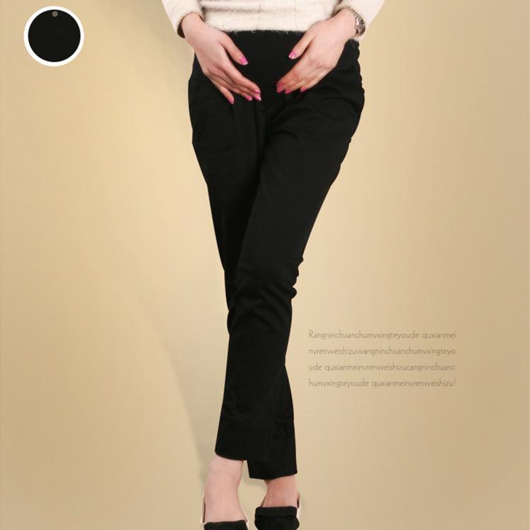 Pantalones de maternidad de algodón de cintura elástica Ropa de moda de primavera y verano para mujeres embarazadas Pantalones causales de embarazo de vientre