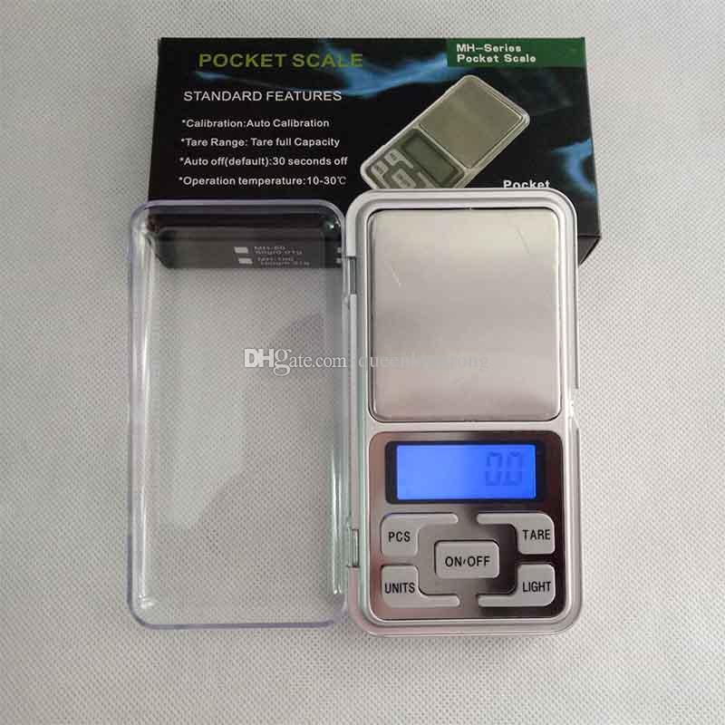 مصغرة الإلكترونية الرقمية مقياس الماس والمجوهرات وزن مقياس الرصيد الجيب غرام lcd عرض جداول مع مربع التجزئة 500 جرام / 0.1 جرام 200 جرام / 0.01 جرام