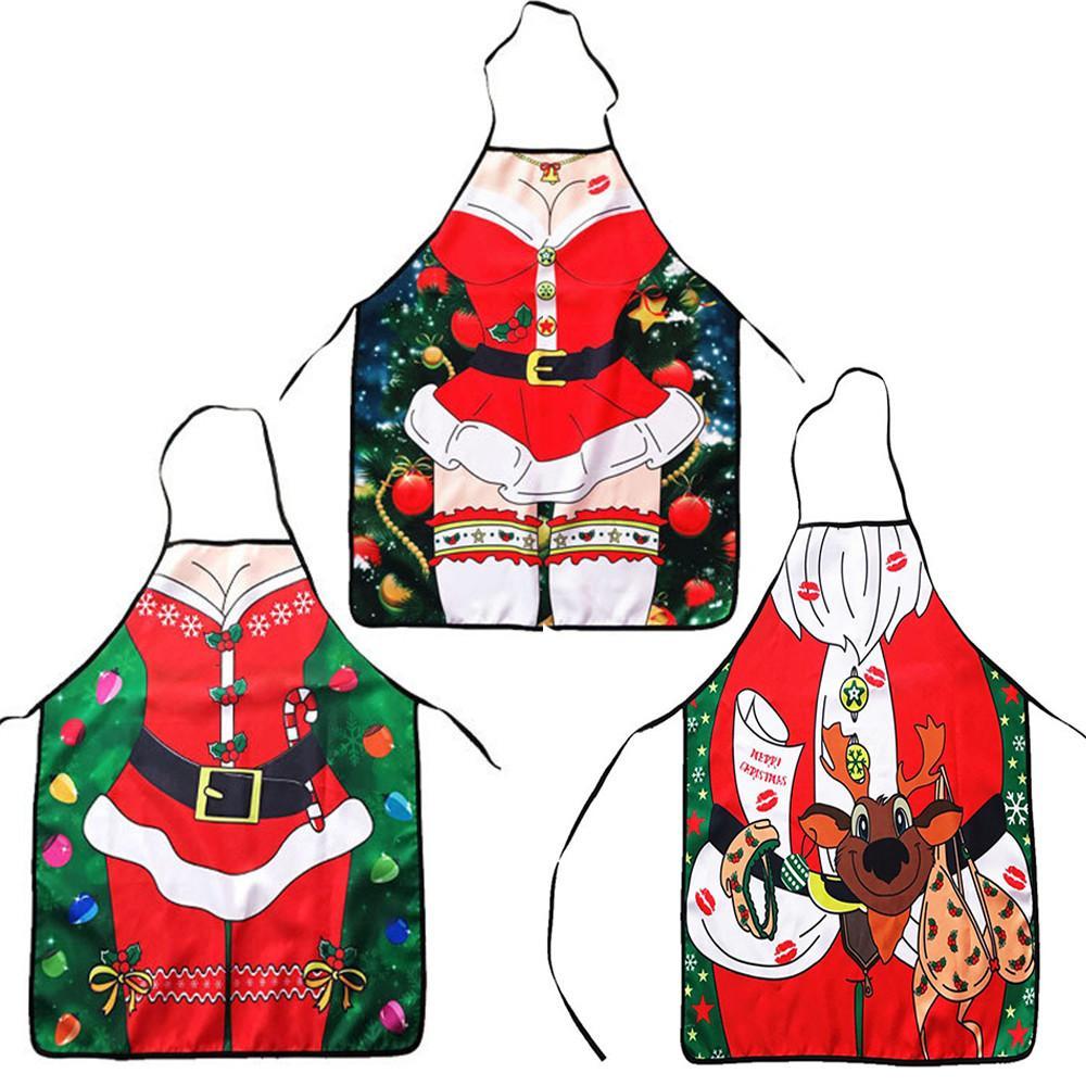 2019 크리스마스 장식 방수 앞치마 주방 앞치마 크리스마스 저녁 파티 4 월 Natale Ingrosso Xmas 장식 장신구