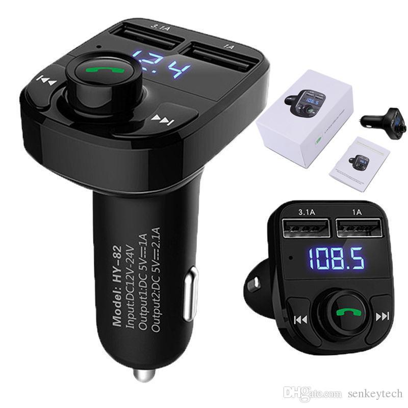 1PCS حر اليدين شاحن سيارة بلوتوث وزير الخارجية الارسال محول الموسيقى مع 3.1A المزدوج منفذ USB متوافق لابل اي فون ، سامسونج غالاكسي ، إل جي