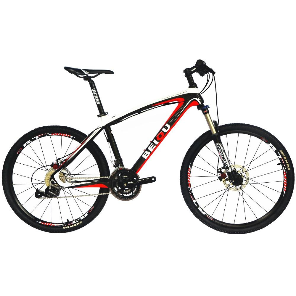 wholesale Bicycles Hardtail Mountain Bike 26-Inch Shi mano 3x9 Speed S R A M Brake Ultralight Complete Carbon MTB Frame CB014