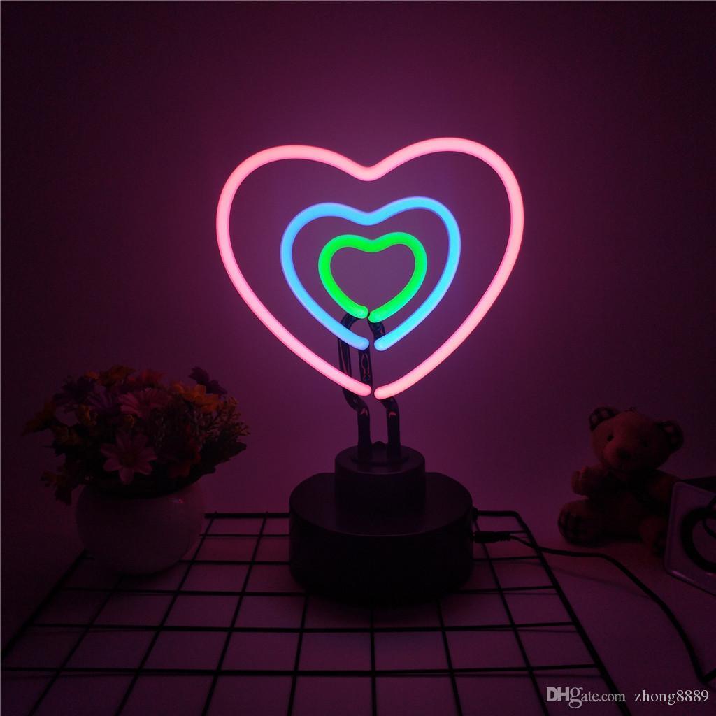 Neon De Decoration Interieur acheter tube de verre néon néon lampe veilleuse veilleuse À la maison  festival de mariage accessoires photo décorés intérieur décoration  illumination