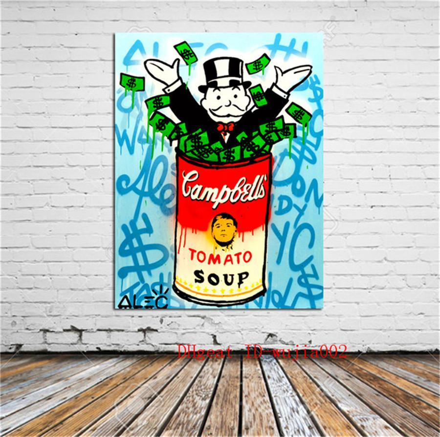 La vie capitaliste, peinture de toile salon décoration à la maison peinture à l'huile murale moderne d'art