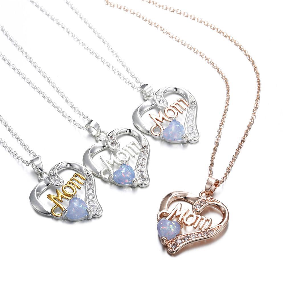 Accessori europei e americani mamma nuovo diamante ciondolo festa della mamma regalo della signora