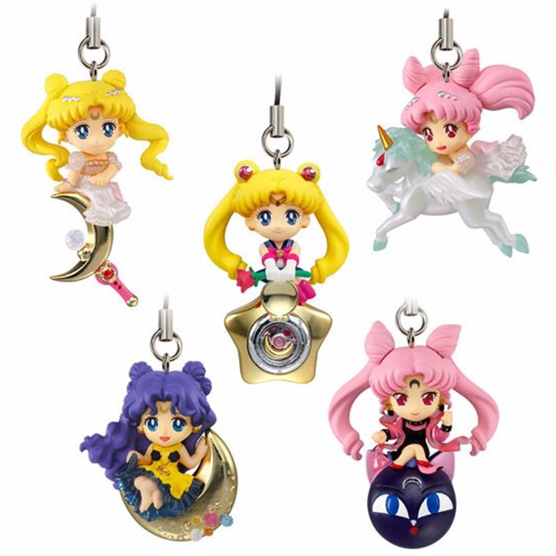 Anime Sailor Moon Twinkle Dolly Charm Figura llavero varillas de cadena stick henshin mascot
